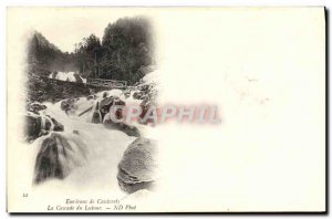 Old Postcard From Around Cauterets Cascade From Lutour
