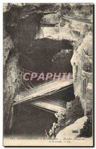 Old Postcard The Caves Constantine Rhummerl stairs leading to the cave