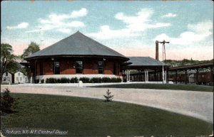 Auburn NY Central RR Train Depot Station c1910 Postcard