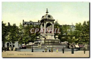 Old Postcard Paris the St Sulpice (TOILEE map)
