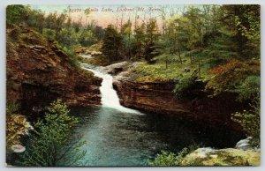 Lookout Mountain Tennessee~Lula Lake Waterfall~Rock Bluffs~1908 Scenic Postcard