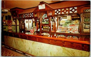 1950s Shartlesville, Pennsylvania Postcard HAAG'S HOTEL AND RESTAURANT Bar View