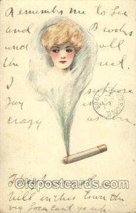 Artist Signed Samuel Schmucker 1908 a lot of creases left edge, roundness on ...