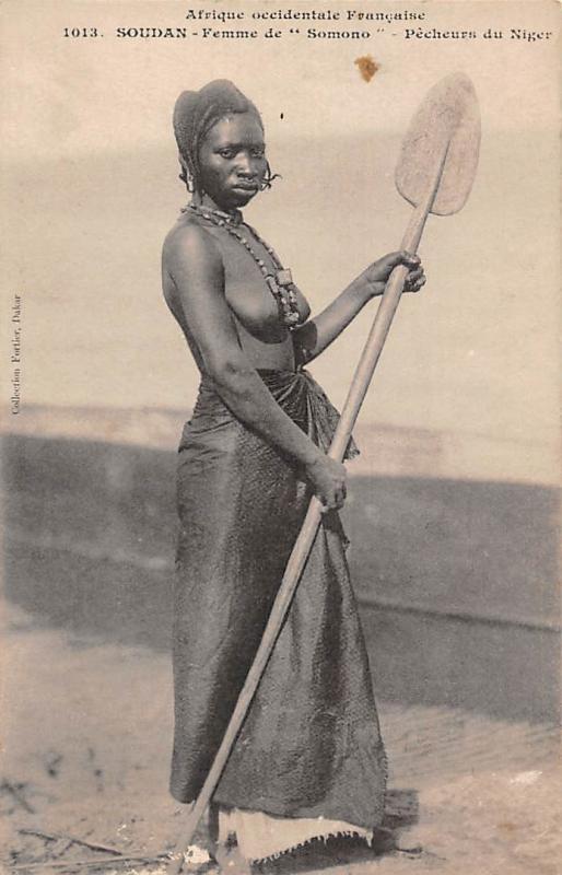 Afrique Sudan, Soudan Femme de Somono Pecheurs du Niger, Fisherwoman