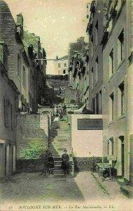 France Boulogne sur Mer La Rue Marbicoulis Street Postcard