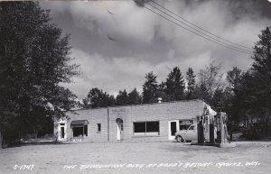 Recreation Building & Gas Station Popp's Resort Crivitz Wisconsin Real Photo 03