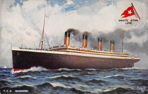 RMS Olympic Raphael Tucks and Sons White Star Line Ship Steamer Unused