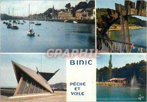 Postcard Modern Binic Fishing & Sailing (C N) in Britain Colors