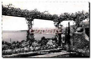 Postcard Old City View Menton and Cap Martin