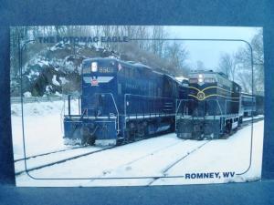 Postcard WV Romney The Potomac Eagle Railroad Excursions