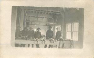 C-1910 Hunters Cook Dead Duck Food Preparation RPPC real photo postcard 1457