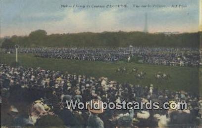 Vue sur la Pelouse Horse Racing Champ de Coursees d'Auteuil, France, Carte, U...