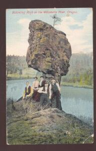 WILLAMETTE RIVER OREGON BLANCING UNUSUAL ROCK VINTAGE POSTCARD