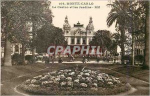 Old Postcard Monte Carlo Casino and Gardens