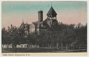 SD Watertown South Dakota High School 1925 Postcard