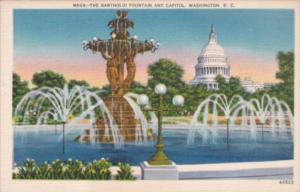 Washington D C The Bartholdi Fountain and Capitol Building
