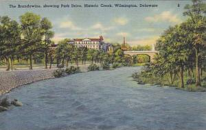 The Brandywine, showing Park Drive, Historic Creek, Wilmington, Delaware, 30-40s