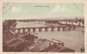 Bridge, Panorama, Macon Et La Saone (Saone et Loire), France, 1910-1920s
