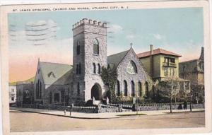 New Jersey Atlantic City St James Episcopal Church and Manse 1924