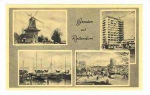 Rotterdam, Netherlands, 1940s 14-view postcard