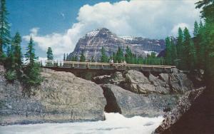 Natural Bridge and Mt Stephen Yoho National Park British Columbia Canada