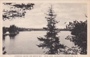 New York Adirondack Mountains Star Lake Hiawatha Island and South Bay Albertype