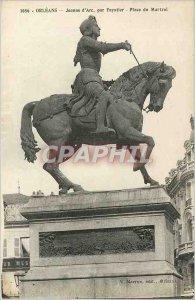 Old Postcard Orleans Joan of Arc in Place du Martroi Foyatier