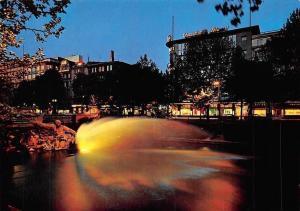 Duesseldorf, Koenigsallee mit Tritonengruppe, Illuminated Fountain