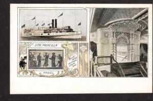 Vintage Str Priscilla Steamer Steamship Ship Postcard Carte Postale Postkarte PC