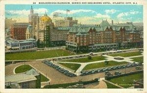 Postcard Dennis And Shelburn Hotel, Atlantic City, NJ Posted 1929
