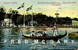 1909 Stockholm Sweden Official Exposition PC: Musikgaleren