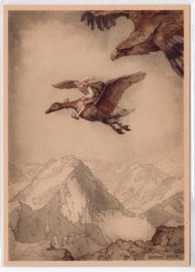 Goose & a Elf by Anton Pieck