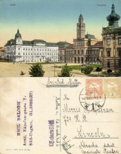 romania, ARAD, Városháza, Town Hall (1912) Postcard
