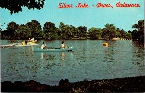 Vtg 1950s Silver Lake Boat Boating Canoe Dover Delaware DE Unused Postcard