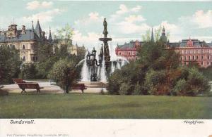 Waterfountain, Vangafvan, Sundsvall, Sweden, 1900-1910s