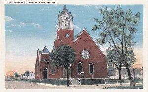 MANHEIM , Pennsylvania, 1900-10s ; Zion Lutheran Church