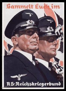 3rd Reich Germany Hohlwein Reichskriegerbund Nazi Veterans Propaganda Card 91000