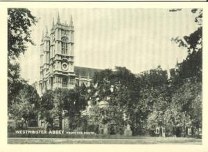 UK, London, Westminster Abbey, from the South, card