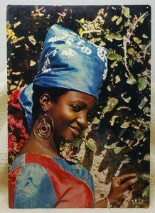 Gracious Smile Female Haiti Vintage Postcard