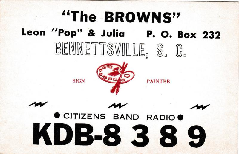 The Browns, Bennettsville, South Carolina, 40-60s