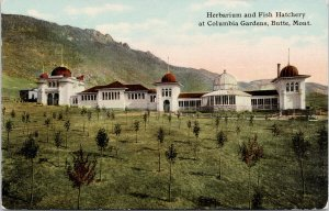 Butte MT Herbarium & Fish Hatchery Montana Columbia Gardens Unused Postcard G35