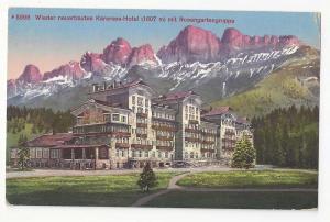 Italy Alps Karersee Hotel Rosengartengruppe Alps Vintage Pos