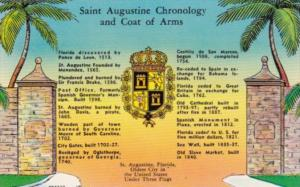 Chronology and Coat Of Arms St Augustine Florida