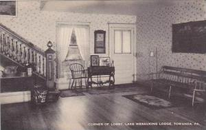 Pennsylvania Towanda Corner Of Lobby Lake Wesauking Lodge Albertype
