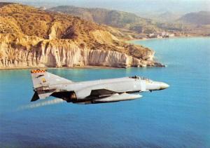 Postcard NEW Phantom FRG2 No.92 Squadron RAF Germany, over Episkopi Bay, Cyprus