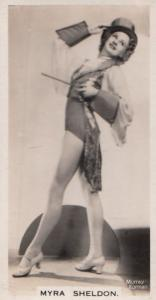 Myra Sheldon Hollywood Actress Rare Real Photo Cigarette Card