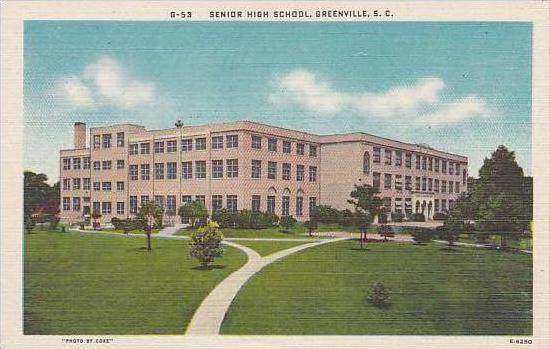 South Carolina Greenville Senior High School