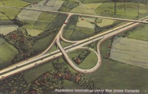 New Jersey Swedesboro Interchange On The Change On The New Jersey Turnpike