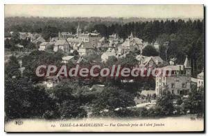 Postcard Old Tesse La Madeleine Vue Generale Taking the Janolin shelter