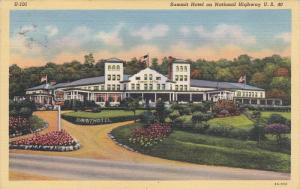Summit Hotel on Natinal Highway U. S. 40, UNIONTOWN, Pennsylvania, 30-40s